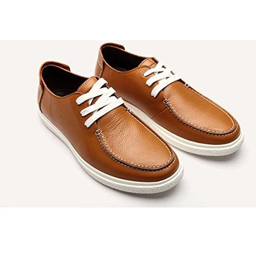 Cuero Casual Moda Encaje Zapatos B Redondo Hombres Gtymfh qC5w6xFtn