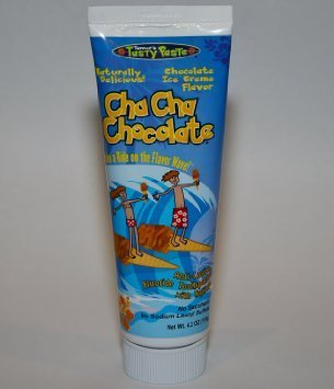 Flavored Toothpaste (Cha Cha Chocolate Toothpaste - Chocolate Ice Cream Flavor- Naturally Delicious - No Artificial Colors - Gluten Free - Not Harmful If Swallowed Accidentally - Kids Friendly - 4.2 oz)