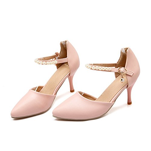 1TO9 Womens Studded Structured Dress Urethane Sandals MJS03104 Pink