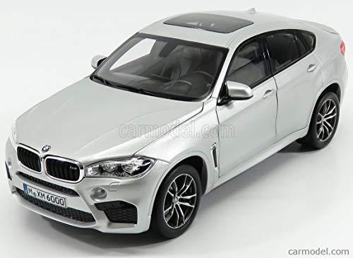 BMW 2015 X6 M Silver Metallic 1/18 Diecast Model Car by Norev 183200
