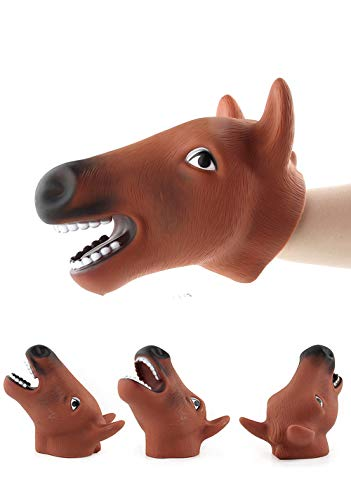 Puppet S Kits - callm Hand Puppets,Hand Puppets Role Play Realistic Gloves Soft Toy (Horse)