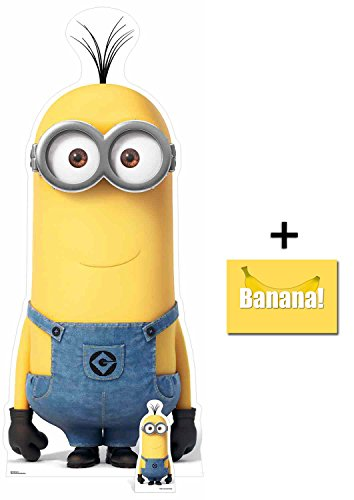 Fan Pack - Kevin Minion Despicable Me 3 Minions Lifesize and Mini Cardboard Cutout / Standup / Standee - Includes 8x10 Star Photo