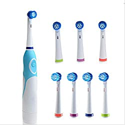 Electric Toothbrush Rotation Tooth Brush With 8 Rotating Heads Oral Hygiene Oral Deep Cleaning For Adults