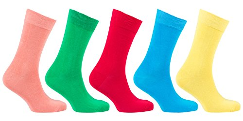Socks n Socks-Men's 5 pair Luxury Fun Cool Colorful Cotton Dress Socks Gift Box