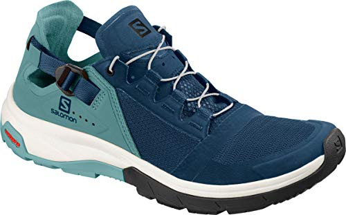 (Salomon Women's Techamphibian 4 W Water Shoe, Hydro. / Nile Blue/Poseidon)