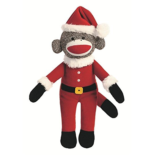 Santa Holiday Sock Monkey 12-Inch