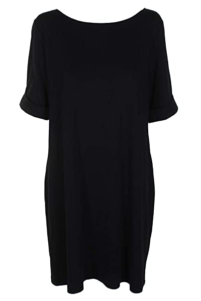 d4d9b752501 Image Unavailable. Image not available for. Color  Karen Scott Plus Size  Elbow-Sleeve T-Shirt Dress ...