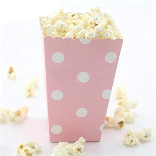 Popcorn Box - 12pcs Mini Colorful Stiff Paper Popcorn Boxes Pop Corn Candy Sanck Favor Bags Wedding Birthday Movie - Party Decorations Party Decorations Corn Product Paper Polo Shirt Popcorn -