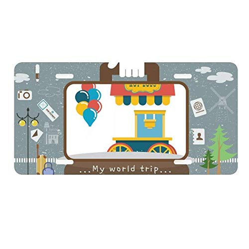 DIYthinker Amazing Funny Park Hot Dog Illustration License Plate Car Decoration Tin Sign Travel