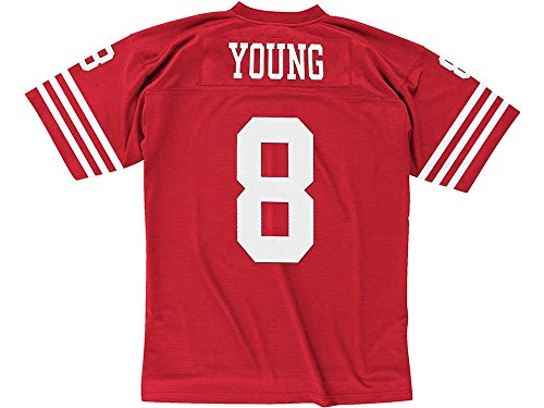 San Francisco 49ers NFL Mitchell & Ness 1990 Steve Young #8 Replica Throwback Football Jersey (XX-LARGE)