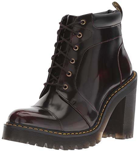 Dr. Martens Women's Averil Fashion Boot, Cherry red, 7 M UK (9 US)