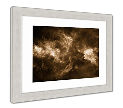 - Ashley Framed Prints Realms Of Space, Wall Art Home Decoration, Sepia, 34x40 (frame size), Silver Frame, AG5826184