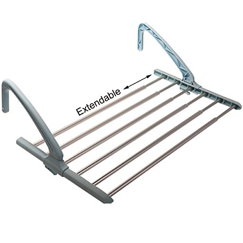 Drynatural Indoor/Outdoor Extendable Clothes Drying Rack Han