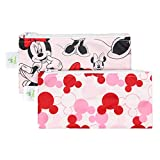 Bumkins Disney Baby Reusable Snack Bag, Minnie Mouse Icon, Small, 2 Count