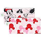 Bumkins Reusable Snack Bag Small 2 Pack, Disney, Minnie Mouse (Classic/Icon
