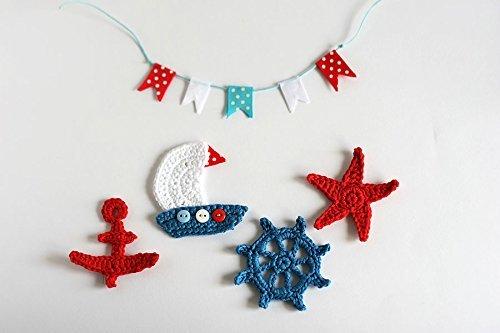 Amazon nautical crochet applique set of handmade