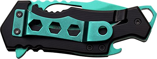 MTech-USA-MT-A882GN-Spring-Assist-Folding-Knife-Turquoise-Blade-Black-Handle-3-Inch-Closed
