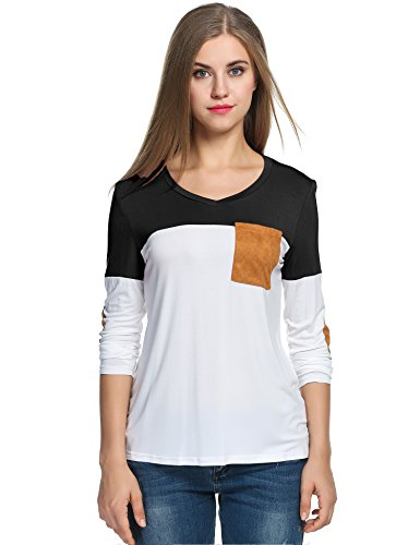 Meaneor Womens Loose Sleeve T Shirt