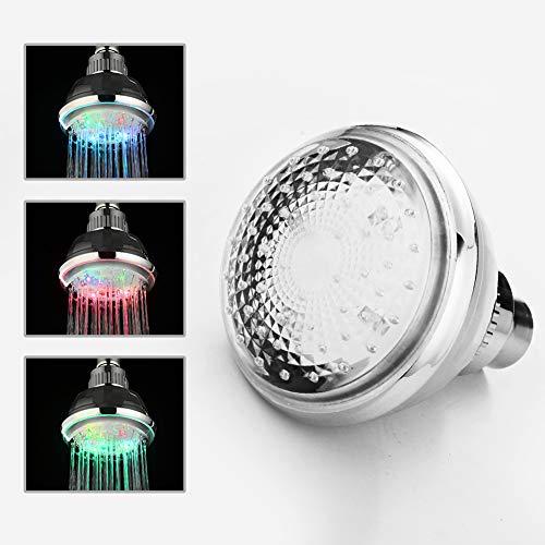 Led 3 Color Changing Lights Shower Head in US - 6