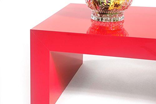 Tavolino Salotto Rosso.Tavolino Basso Da Salotto Rosso Lucido Mod First H30cm Tavoli