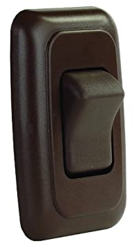 JR Products 12005 White Single SPST On-Off Switch with Bezel