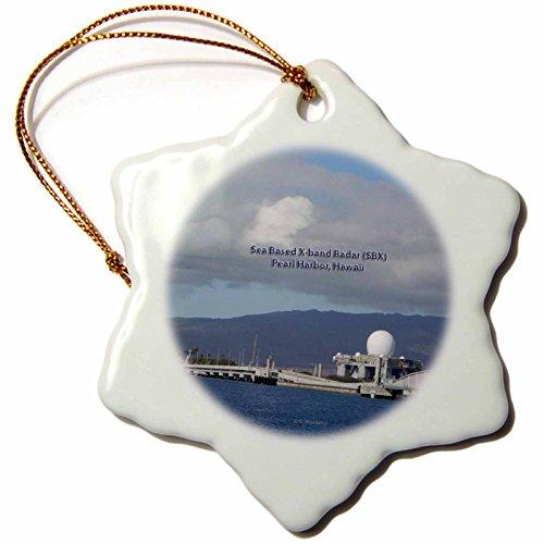 3dRose orn_107076_1 Sea Based X-Band Radar (Sbx)-Pearl Harbor, Hawaii-Snowflake Ornament, 3-Inch, Porcelain by 3dRose