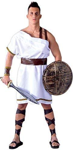 Mens Greek Spartan Sparta Warrior 300 Film Soldier Ancient Greece Historical Fancy Dress Costume Outfit Large -