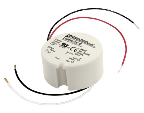 ROBERTSON 3P30023 LD003C035LIC LED Driver, 1-3 Watt, 100-240Vac Input, 350 mA Constant Current, 3-9Vdc Output, Normal Power Factor
