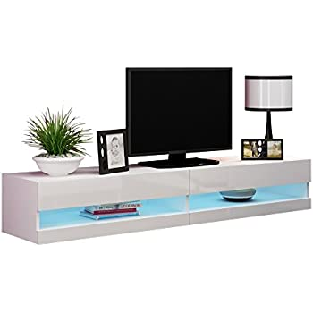 Amazon.com: Meble Furniture & Rugs TV Stand Milano 200 LED Wall ...