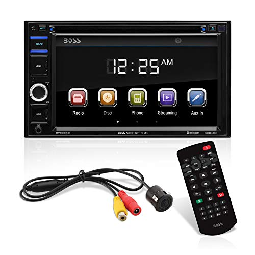 BOSS Audio Systems BVB9364RC Car DVD Player - Double Din, Bluetooth Audio and Hands-Free Calling, 6.2 Inch Touchscreen LCD, MP3, CD, DVD, USB, SD, AUX in, AM/FM Radio, Rearview Camera Included from BOSS Audio Systems