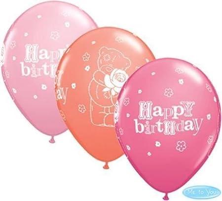 Me To You Tatty Teddy cumpleaños rosa Qualatex 27.9 cm látex ...