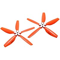 Microheli Plastic Folding 5-Blade Propeller 5045 CW/CCW w/Aluminum Bracket (ORANGE)
