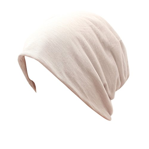 Slouchy Sleeping Cap Chemo Hat - Grey Beanie Soft Bamboo For Women Men Cotton Summer Cancer (Bamboo Cotton Headband)
