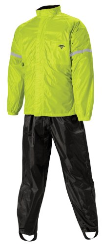Nelson-Rigg WP-8000 Weatherpro Men's 2-Piece Sports Bike Motorcycle Rain Suits - Black/Hi-Visibility Yellow / - Bike Sport Suit
