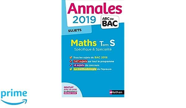 Mathématiques Tle S spécifique et spécialité : Sujets Annales ABC du Bac: Amazon.es: Christian Lixi: Libros en idiomas extranjeros