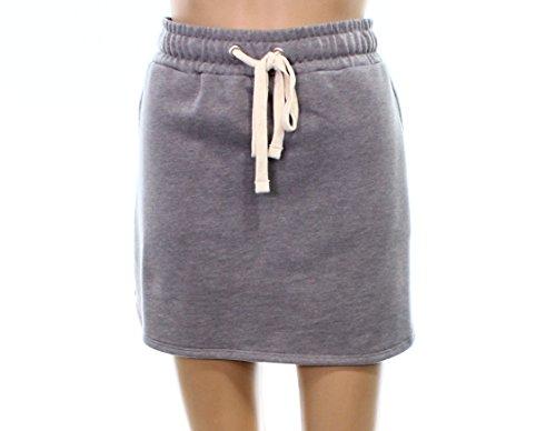 Skirt Terry Drawstring (Alternative Heather Women Large Drawstring Terry Mini Skirt Gray L)