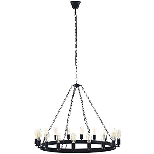 Modway Teleport Chandelier, Brown, 43