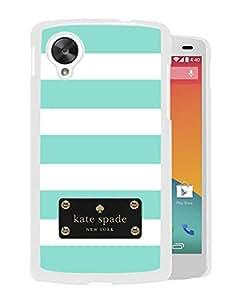 Unique Designed Kate Spade Cover Case For Google Nexus 5 White Phone Case 115