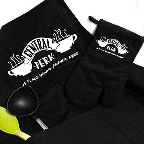 Savvy Gifts Central Perk Apron and Oven Mitt Gift Set-Friends TV Show Merchandise