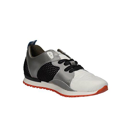 D.A.T.E. date Sneakers Donna Bianco Grigio tessuto pelle AE584