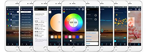 MagicLight WiFi Smart Light Bulb - Triangle Style - Dimmable Multicolored 60w Equivalent Sunset Sunrise Sleeping Night Lights - Compatible with Alexa & Google Home Assistant by MagicLight (Image #7)