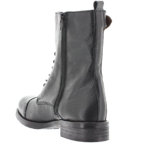 SEVEN de Asphalt cuero Botas negro Militares mujer SIXTY 1Sn7qq