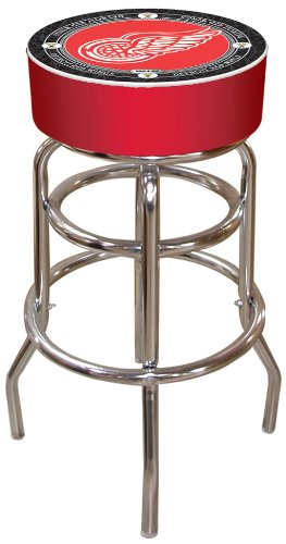 NHL Detroit Redwings Padded Swivel Bar Stool