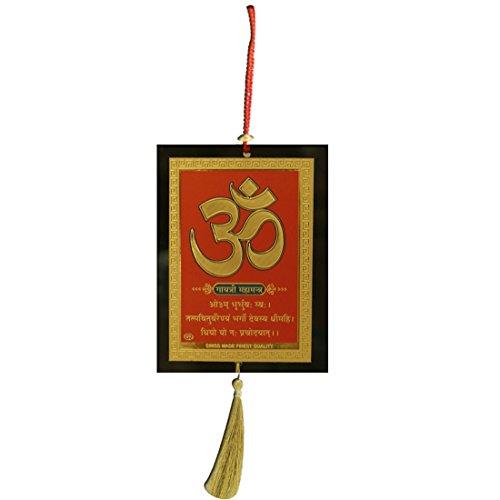 - Divya Mantra Sri Om Aum Symbol Talisman Gift Pendant Amulet for Car Rear View Mirror Decor Ornament Accessories/Good Luck Charm Protection Interior Wall Hanging Showpiece