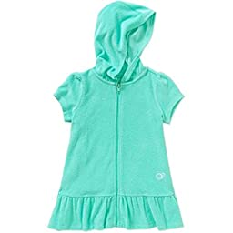 Op Little Girls Toddler Hooded Terry Swimsuit Cover Up (12mo, Aqua)