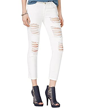 GUESS Women's Crop Mid Rise Jean