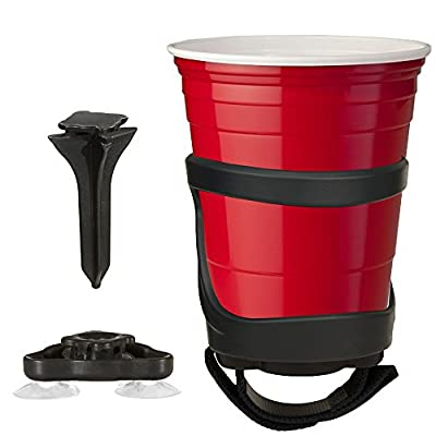 SunChaser Bevi Pro Outdoor Drink Holders for Beer Cans, Bottles, Cups, and Other Beverages - Picnics, Beach, Boats, RV's & More