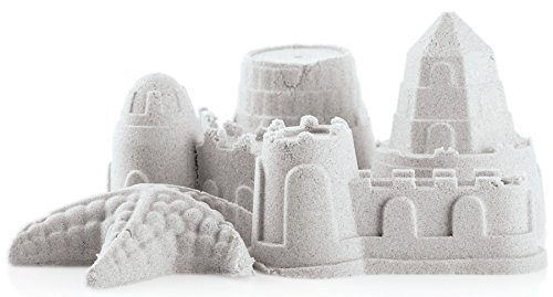 UPC 738223051874, Perfect Life Ideas Play Sand 800 Gram Box Squeezable Shape-able and Mold-able Sandbox Mold Shapes Sizes Quick Easy Sticky No Mess Anti Bacterial Non Toxic Clay Dough