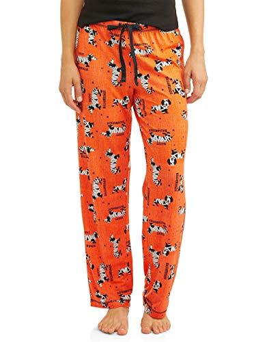 Draw A Pumpkin For Halloween (Women's Halloween Jersey Cotton Drawstring Pajama Sleep Pants (Small-3XL) (3XL 22W-24W, Orange)