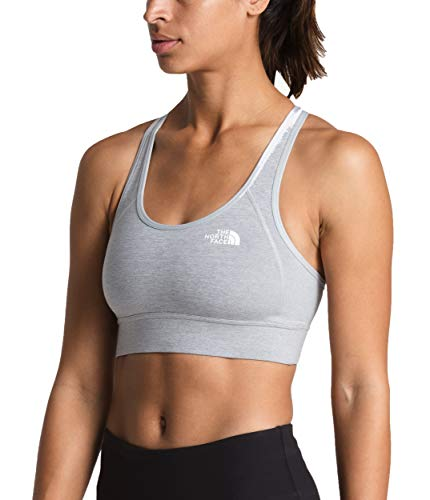 The North Face Women's Bounce-Be-Gone Bra, TNF Light Grey Heather, Size L (North Face Equipment)